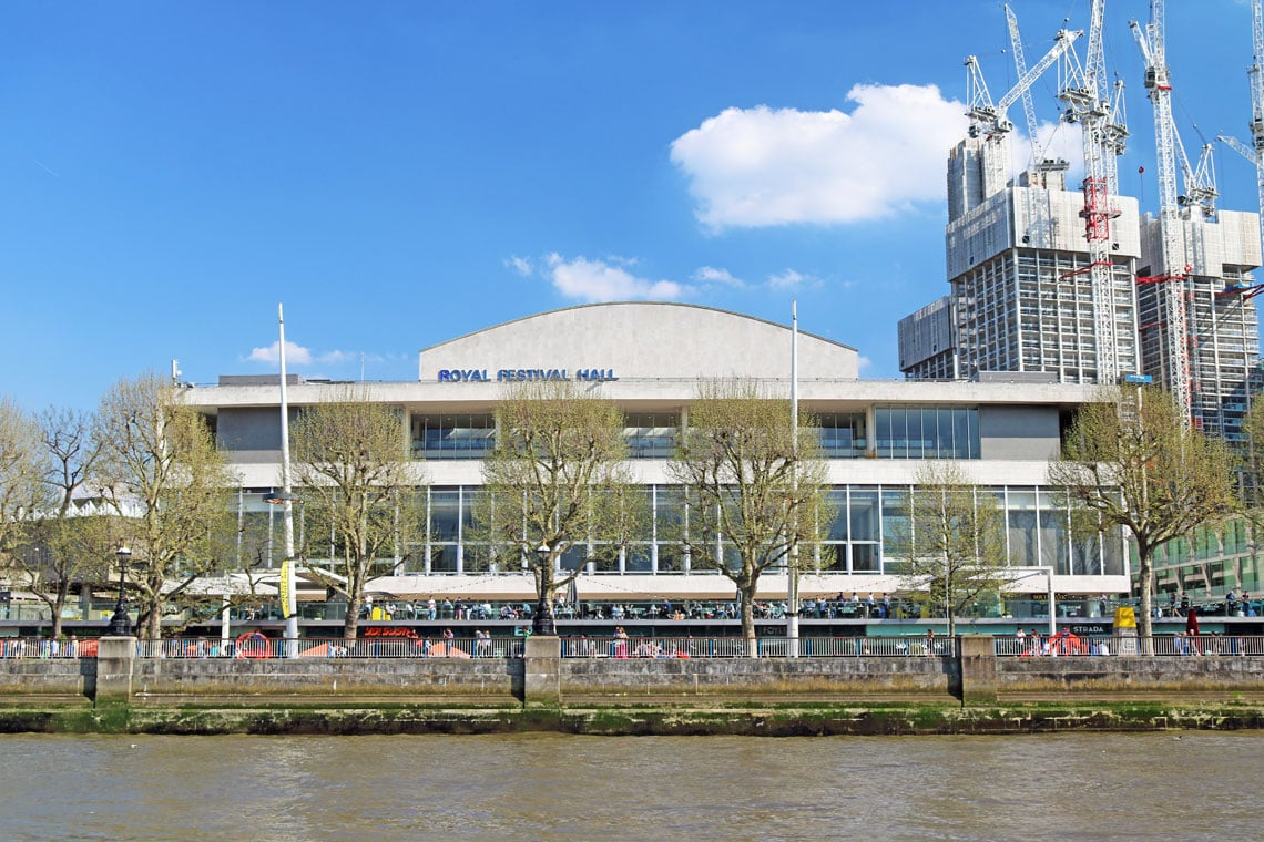 Royal Festival Hall, South Bank Centre, South Bank, London Borough of Lambeth