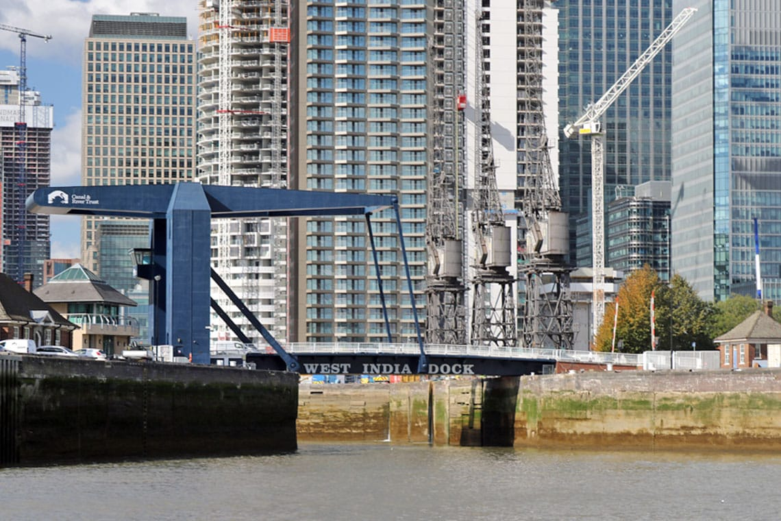 West India Dock Entrance, Isle of Dogs