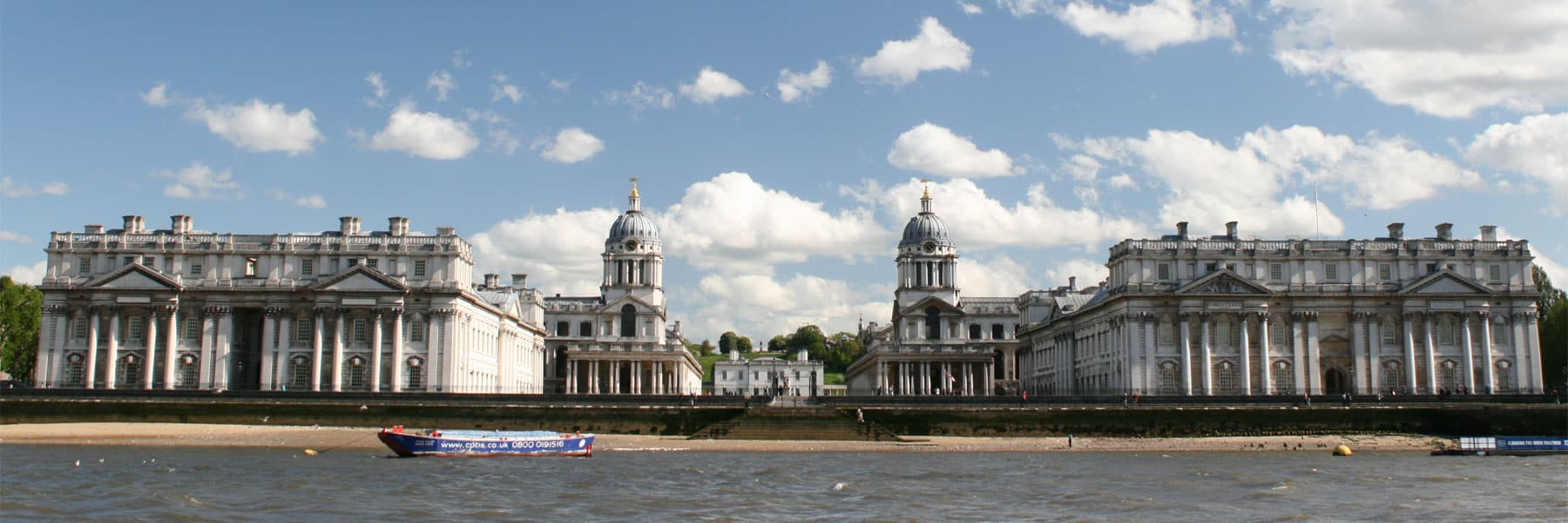 The Old Royal Naval College in the Royal Borough of Greenwich
